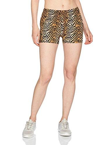 Soffe Women's Juniors Printed Compression Shorts, Tiger, (Tiger Spandex Shorts)
