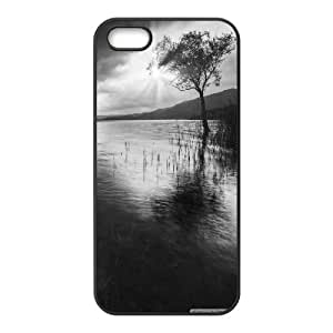 Iphone 5/5S Case tree in water black and white Black tcj526187 tomchasejerry