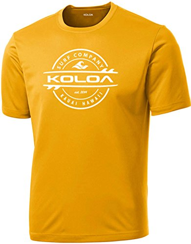 Koloa Surf Thruster Logo Moisture Wicking Athletic Shirts in Regular, Big & Tall