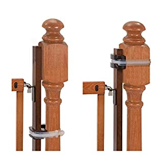 "Summer Banister to Banister Universal Gate Mounting Kit – Fits Round or Square Banisters, Accommodates Most Hardware & Pressure Mount Baby Gates up to 37"" Tall, Gate Sold Separately"