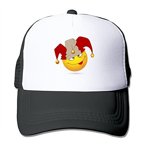 Jester Hats For Sale (Printing Adult Unisex Smiley-illustration-jester-face 100% Nylon Mesh Caps One Size Fits Most Adjustable Mesh Caps)