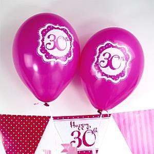 Rosa perfectamente feliz 30 cumpleaños globos - 10