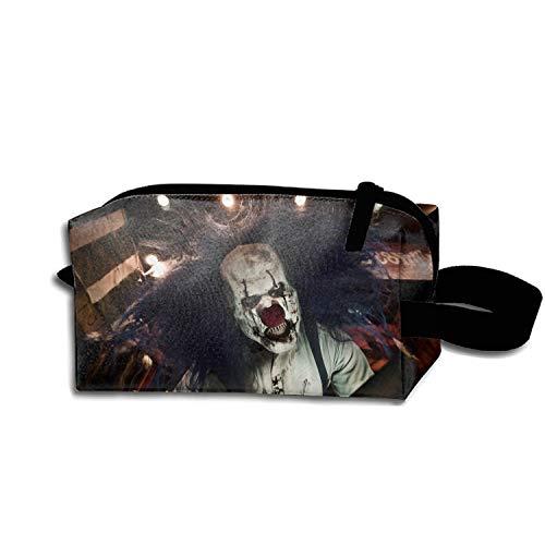 scakoko Dark Clown Creepy Halloween Makeup Pouch Portable