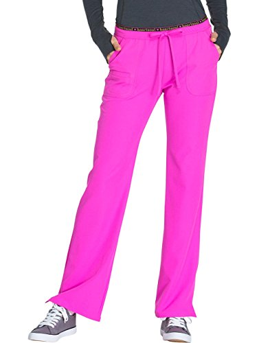 HeartSoul Break On Through Women's Heart Breaker Drawstring Scrub Pant X-Large Tall Glam Fuschia