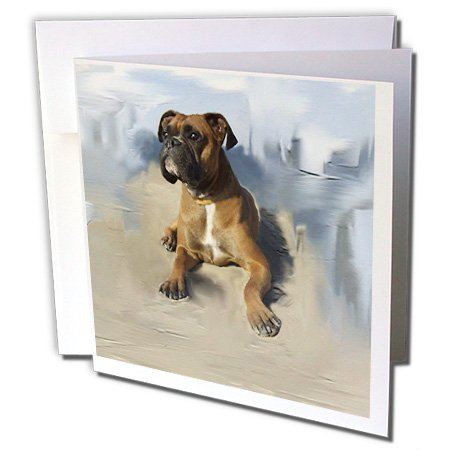 3dRose Brindle Boxer - Greeting Cards, 6 x 6 inches, set of 12 (gc_4141_2) ()