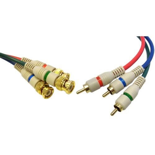 CableWholesale's High Quality Component Video RCA to BNC Component Conversion Cable, 3 (Bnc Male Component Cable)
