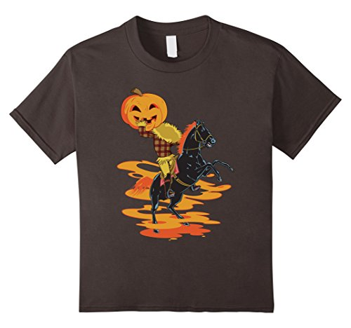 Kids Legend of the Headless Horseman Halloween Pumpkin T-shirt 12 (Scary Headless Horseman Kids Costumes)