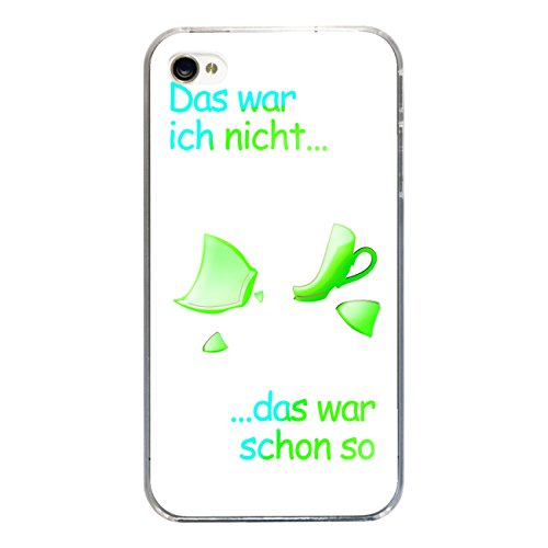 "Disagu Design Case Coque pour Apple iPhone 4 Housse etui coque pochette ""Das war...-grün"""