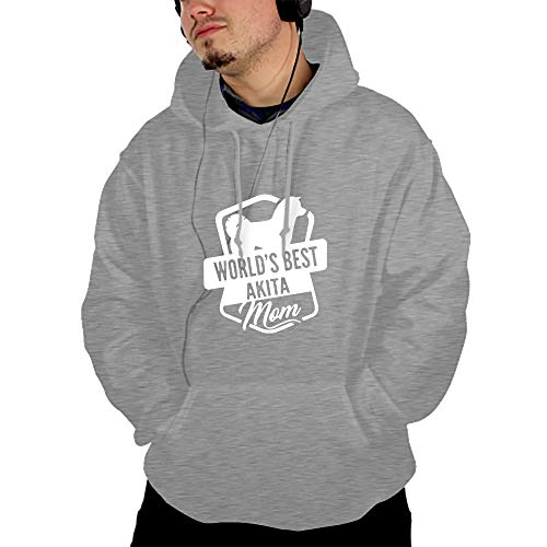 Men's Hoodies Sweatshirt Akita Dog Long Sleeve Pullovers Tracksuit T Shirts ()