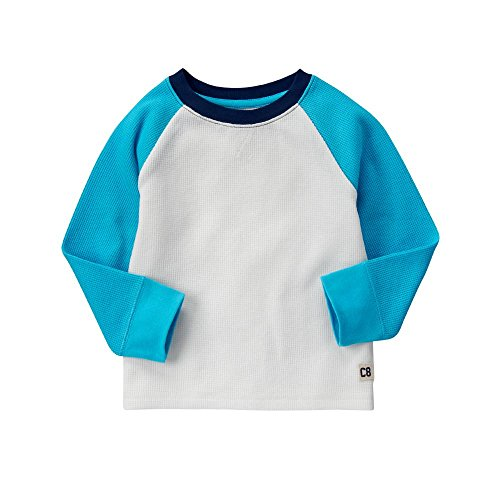 Crazy 8 Toddler Boys' Long-Sleeve Raglan Thermal Tee, Jet Ivory, 3Y (Thermal Clothes For Toddler compare prices)