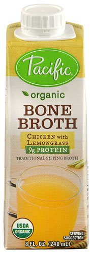 Pacific Natural Foods Organic Bone Broth Chicken with Lemongrass -- 8 fl oz - 2 pc