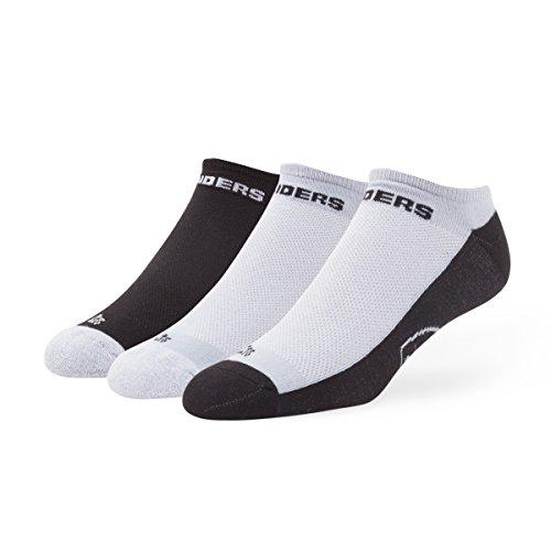 (NFL Oakland Raiders Women's '47 Gait Sport No-Show Socks, Large, 3-Pack)