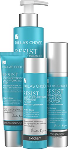 (Paula's Choice RESIST Essential Kit for Wrinkles + Breakouts, 4 Product System Reduces Breakouts, Clogged Pores, and Signs of Aging in Skin of the Face and Neck )