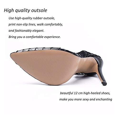 Qzx Haut Escarpins Aiguilles Engrener Pointu Shoes Chaussure Robe black Talons Talon uk4 Pompes Femmes De À eu36 Sandales Bout vqwOEvxrYf