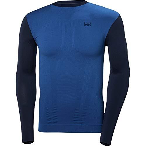 Helly Hansen LIFA Seamless Crew Baselayer Top, Evening Blue, XX-Large (Helly Hansen Underwear Long)