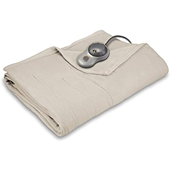 Sunbeam Quilted Fleece Heated Blanket, Queen, Seashell, BSF9GQS-R757-13A00