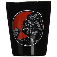 Vandor 99063 Star Wars Darth Vader Ceramic Shot Glass, negro y rojo