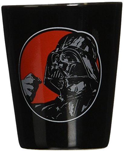 Vandor 99063 Star Wars Darth Vader Ceramic Shot Glass, Black, and Red ()
