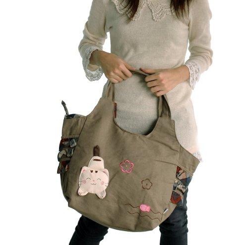 De Sac sac Cat swingpack 100 À Toile Voyage Coton pretty Bandoulière ROt1SUO