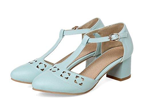 Escarpins Bride Elégant Bleu strap Cheville Aisun T Femme n4Ewq18xpY