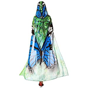 VESNIBA Party Prop Novelty Print Chiffon Butterfly Wing Cape Scarf Peacock Poncho Shawl Wrap