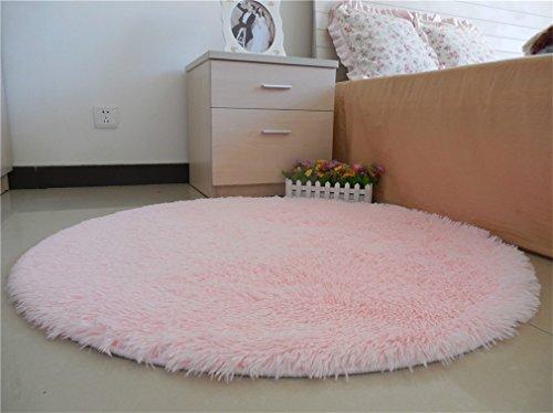 Cheap Super Soft Lovely Round Shaped area rug,Anti-skid Door Mat Fluffy Children Bedroom Nursery Carpets Christmas Floor Mat for Home Bedroom