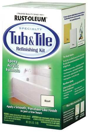 - OKSLO Rust-oleum 7862519 tub and tile refinishing 2-part kit, biscuit
