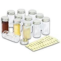 SimpleHouseware 12 Spice Bottles w/ label Set