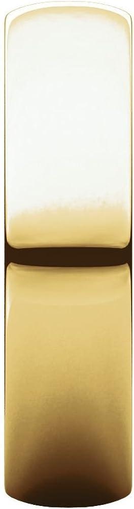 10K Yellow Gold 5mm Half Round Light Band