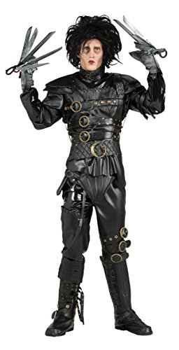 Edward Scissorhands Costume, Black, Standard -