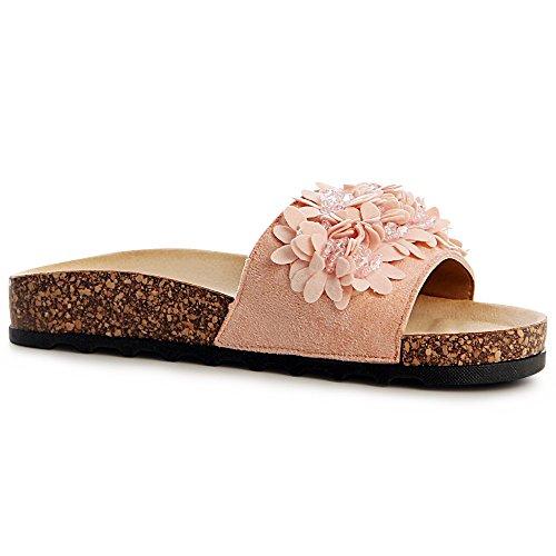 Rose Rosa Sandalettes Femmes topschuhe24 Sandales wCtqn8Ta