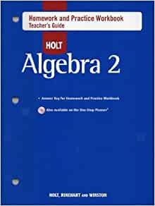 Holt algebra 2 homework help