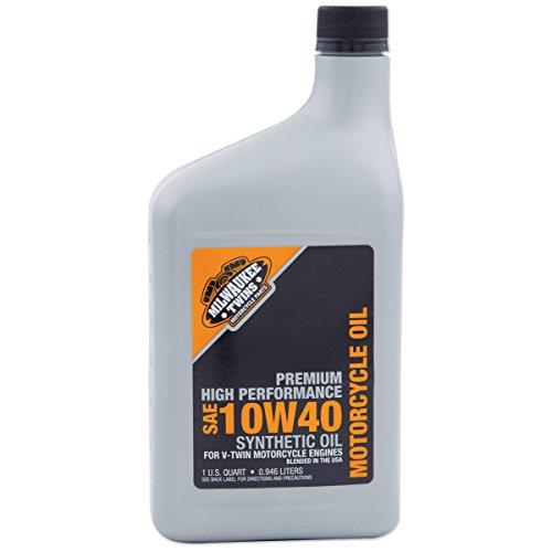 Milwaukee Oil - Milwaukee Twins Synthetic Engine Oil 10W40 Quart 2223-042F