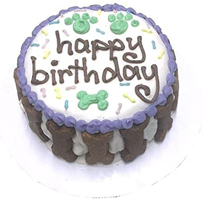 Amazon Happy Birthday Gourmet Organic Dog Cake Unisex Pet Supplies