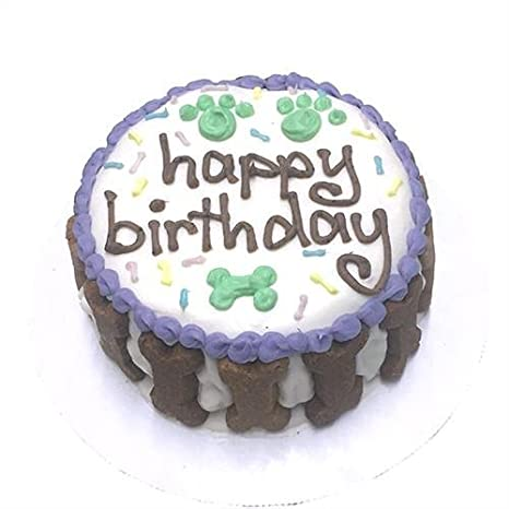Happy Birthday Gourmet Organic Dog Cake Unisex