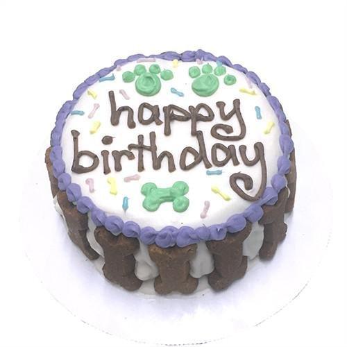 Gourmet Dog Cake - Happy Birthday Gourmet Organic Dog Cake (Unisex)