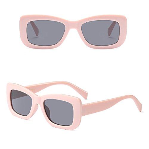 Viajes de Rectángulo Piscina Conducción Pink Vacaciones Playa de para Zhhlinyuan Mujeres UV Sol de Protección Gafas de Moda tPanWTaqvB