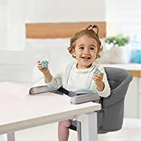 HUGmeee ベビーチェア テーブルチェア チャイルドチェア ベビーテーブルチェア 赤ちゃんハイチェア 折り畳み携帯ベビーシート 子供 お食事椅子 6ヶ月から3歳まで 収納袋付き