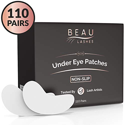 110 Pairs Under Eye Pads for Lash Extensions - Lint Free Hydrogel Eye Patches with Vitamin C & Moisturizing Aloe Vera For Eyelash Extension & Lash Lift - Professional Esthetician Gel Undereye Eyepads (The Best Lash Extensions)