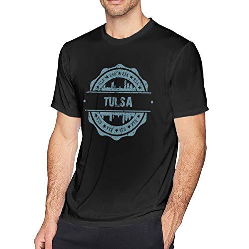 X-JUSEN Men's Tulsa Oklahoma Short-Sleeve Cotton T-Shirts Costumes Tee Top]()
