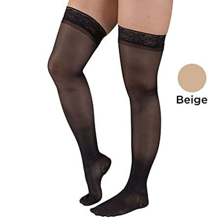 Complete Medical Firm Surgical Weight Stockings 20-30 mmHg Thigh Stay Up Top Closed Toe XX-Large 0.1 Pound Complete Medical Manufacturing Group BJ381BL2X