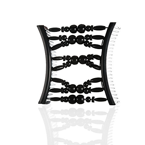 HairZing Tribal Essential Plastic, Perfect for Easy Ponytails, UpDos and Twists, Black, Large