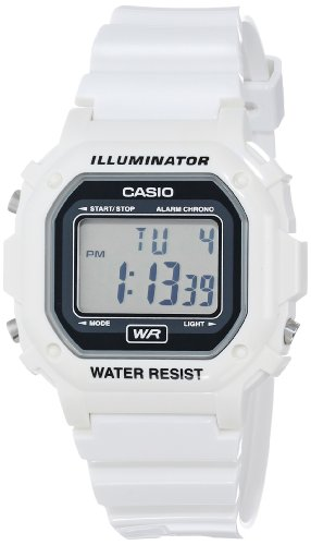 Casio Unisex F-108WHC-7ACF Classic White Resin Band Watch