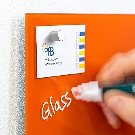 1 pennarello 2 magneti SmartGlassBoard /® colore: Verde giallastro Lavagna magnetica in vetro//Lavagnetta 78 x 48 cm