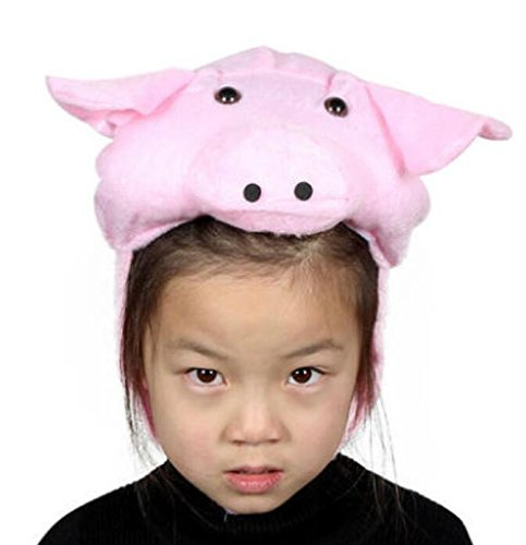 Goodscene Party decoration accessories Cute Kids Performance Accessories Cartoon Animal Hat (Pink Pig) by Goodscene