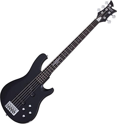 (Schecter Johnny Christ-5 Bass Signature 5-String Electric Bass Satin Black)