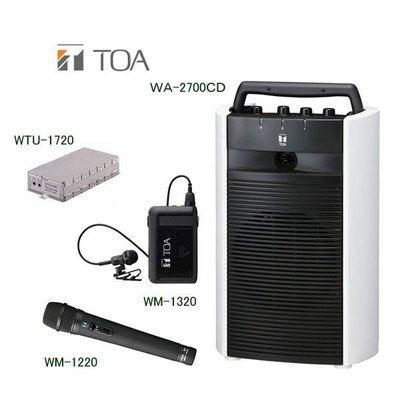 【祝開店!大放出セール開催中】 TOA デジタルワイヤレスアンプ(CD機能付き)ワイヤレスマイクセット B00O9OR05G WA-2700CD×1 WTU-1720×1 WM-1220×1 TOA WM-1320×1 シングルタイプ WA-2700CD×1 B00O9OR05G, サナゴウチソン:04dbf7cf --- xn--paiius-k2a.lt
