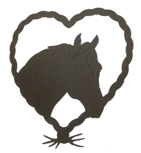 Horse in Heart Wall Art Plaque ()