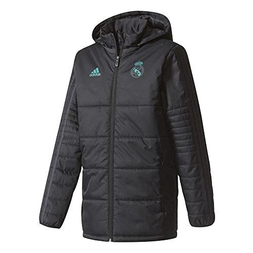 2017-2018 Real Madrid Adidas Padded Winter Jacket (Black) - Kids by adidas