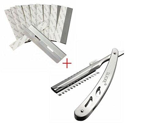 Stainless Steel Hair Shaving Razor Blades Knife Rest Shaver Frame Set by GokuStore